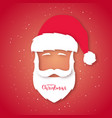 santa claus avatar paper art style christmas vector image vector image