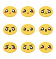 set collection of kawaii japanese emoticons vector image vector image