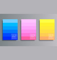 set colorful gradient cover template design for vector image vector image