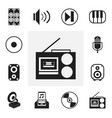 set of 12 editable media icons includes symbols vector image vector image