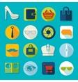 Set of fashion icons vector image