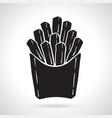 silhouette french fries in a paper pack vector image