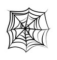 spider web icon on white background silhouette vector image vector image