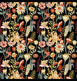 spring flowers composition seamless pattern vector image