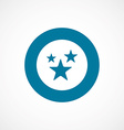 stars bold blue border circle icon vector image