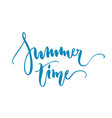 summer time lettering isolated vector image