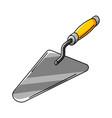 trowel housing construction item vector image