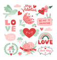 valentines day scrapbook bird with red heart vector image