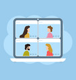 video call conference concept online meeting vector image