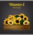 vitamin e crate vector image vector image