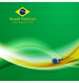 Waves background in Brazilian colors vector image vector image