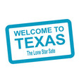 welcome to texas vector image