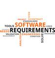 word cloud - software requirements vector image vector image
