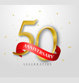50 years happy anniversary banner celebration vector image vector image