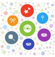 7 sugar icons vector image vector image