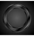Abstract black ring logo vector image vector image