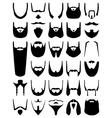 Beard silhouettes vector image