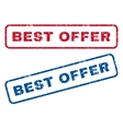 Best Offer Rubber Stamps vector image vector image