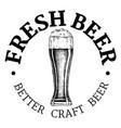 better craft beer vintage label vector image