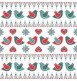 bird pattern decoration vector image vector image