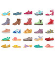 boots and shoes modern elegant female male vector image vector image