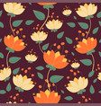 botanical floral pattern with cute branches and vector image vector image
