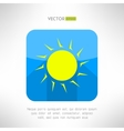 Bright yellow sun icon in modern flat design Nice vector image vector image