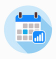 calendar with progress bars icon vector image