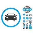 Car Flat Icon with Bonus vector image