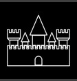 castle it is icon vector image vector image