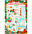 christmas and new year holiday infographics vector image vector image