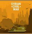 civil war syria self propelled artillery mount vector image vector image
