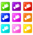 clapping applauding hands icons 9 set vector image vector image