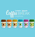 coffee take away cup break breakfast drink vector image vector image