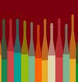 colorful bottles on backgrorund vector image vector image