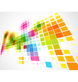 colorful mosaic wave background vector image vector image