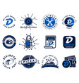 digibyte logos set digital asset concept pay vector image vector image