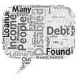 Disabled In Debt text background wordcloud concept vector image vector image