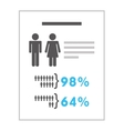 documents with statistics isolated icon design vector image vector image