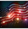 Fireworks background for 4th of July vector image vector image