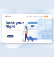 flat modern design wesite template - book your vector image