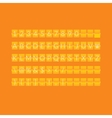Flat orange paper countdown timer vector image vector image