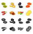 food and raw logo vector image