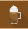 frappe macchiato coffee cup flat design vector image