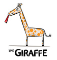 Giraffe Cartoon Funky Giraffe with Lick Ton vector image vector image