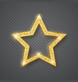 gold shiny glitter glowing star on gray vector image