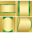golden decorative cards - set vector image