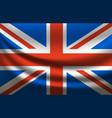 great britain waving flag united kingdom vector image