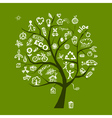 Green ecology tree vector image vector image
