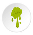 green slime spot icon circle vector image vector image